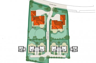 Calvert Road Site Plan - Roof offu