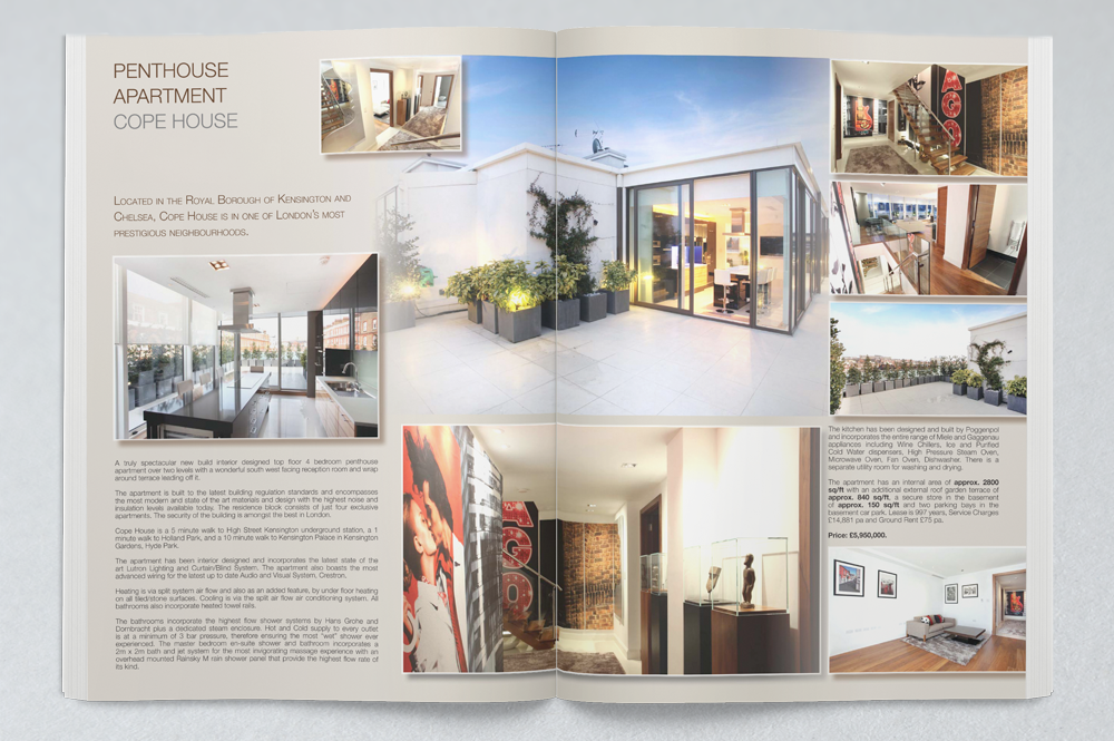 Property Marketing Brochures produced for Estate Agents – Property Brochure