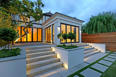 Porch shot of a contemporary house