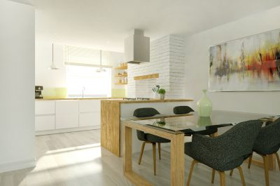 Cgi of a Kitchen diner - contemporary