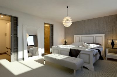 Cgi of a master bedroom
