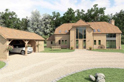 Cgi of The Barn front