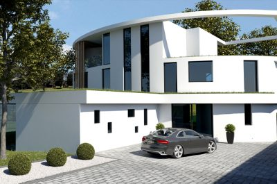 CGI of The View very contemporary home